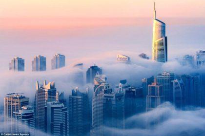 Принц Дубая снял невероятное видео рассвета в облаках
