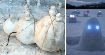 Таких снеговиков вы еще не видели!