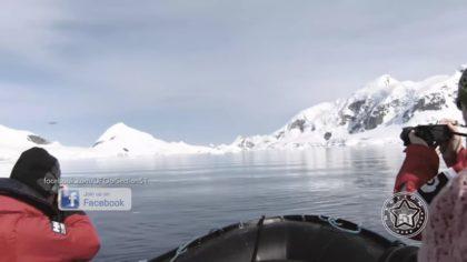 Участники экспедиции в Антарктиде снимали горы. Но вдруг появилось нечто непонятное!