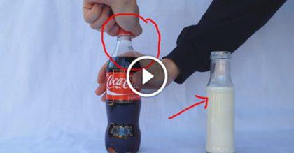Вот, что произойдет, если смешать молоко с кока-колой