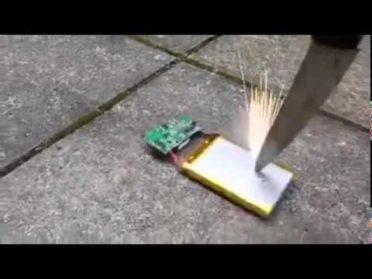 Что будет если проткнуть батарею телефона?